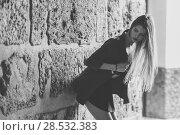 Купить «Portrait of young blonde girl wearing casual clothes in urban background», фото № 28532383, снято 15 ноября 2014 г. (c) Ingram Publishing / Фотобанк Лори