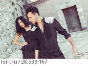Купить «Portrait of beautiful couple, models of fashion, wearing spanish clothes», фото № 28533167, снято 15 декабря 2013 г. (c) Ingram Publishing / Фотобанк Лори