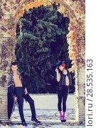 Купить «Portrait of beautiful couple, models of fashion, wearing spanish clothes», фото № 28535163, снято 15 декабря 2013 г. (c) Ingram Publishing / Фотобанк Лори