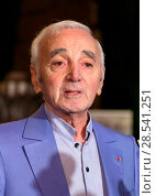 Charles Aznavour receives an honorary Hollywood Star plaque (2016 год). Редакционное фото, фотограф FayesVision / WENN.com / age Fotostock / Фотобанк Лори