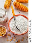 Купить «Starch and corn cob», фото № 28548047, снято 18 марта 2018 г. (c) Надежда Мишкова / Фотобанк Лори