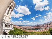 Купить «Panoramic view of Lyon from Fourviere esplanade», фото № 28555627, снято 14 июля 2017 г. (c) Сергей Новиков / Фотобанк Лори