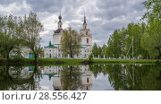 Купить «Orthodox church at sunset», видеоролик № 28556427, снято 31 мая 2018 г. (c) Sergey Borisov / Фотобанк Лори