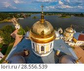 Купить «The Nilo-Stolobensky Monastery, Tver Region, Russia», фото № 28556539, снято 1 августа 2016 г. (c) photoff / Фотобанк Лори