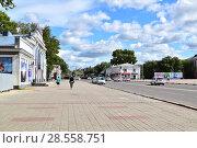 Город Белогорск. Центральная улица (2017 год). Редакционное фото, фотограф antonio2007st / Фотобанк Лори