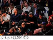 Купить «Celebrities at the Lakers game. The Los Angeles Lakers defeated the Golden State Warriors by the final score of 117-97 at Staples Center in downtown Los...», фото № 28564015, снято 4 ноября 2016 г. (c) age Fotostock / Фотобанк Лори