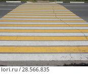 Купить «Пешеходный переход», эксклюзивное фото № 28566835, снято 9 июня 2018 г. (c) lana1501 / Фотобанк Лори