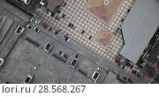 Купить «Square of Kyiv in Ukraine», видеоролик № 28568267, снято 12 июня 2018 г. (c) Andriy Bezuglov / Фотобанк Лори