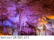 Купить «Сталактитовая пещера Сорек в Израиле, район Бейт-Шемеш, Иудейские горы», фото № 28581211, снято 9 июня 2018 г. (c) Наталья Волкова / Фотобанк Лори