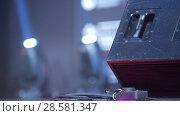 Купить «Blue stage lighting - working show», видеоролик № 28581347, снято 25 сентября 2018 г. (c) Константин Шишкин / Фотобанк Лори