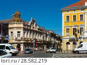 Купить «Streets of Satu Mare in Romania», фото № 28582219, снято 14 сентября 2017 г. (c) Яков Филимонов / Фотобанк Лори