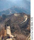 Купить «China, Beijing. the great Wall of China», фото № 28586135, снято 2 апреля 2017 г. (c) Яна Королёва / Фотобанк Лори