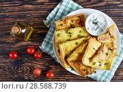 Купить «moroccan flatbread stuffed with Chicken meat», фото № 28588739, снято 4 июня 2018 г. (c) Oksana Zh / Фотобанк Лори