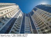 Купить «Modern building exterior», фото № 28588827, снято 23 сентября 2018 г. (c) Ольга Сапегина / Фотобанк Лори