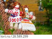 Купить «Оберег неразлучники. Авторская кукла», эксклюзивное фото № 28589299, снято 11 июня 2018 г. (c) Александр Щепин / Фотобанк Лори