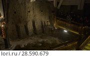 Купить «Wieliczka Salt Mine in southern Poland», видеоролик № 28590679, снято 4 января 2016 г. (c) BestPhotoStudio / Фотобанк Лори