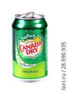 Купить «Canada Dry Ginger Ale», фото № 28590935, снято 17 июня 2018 г. (c) Art Konovalov / Фотобанк Лори
