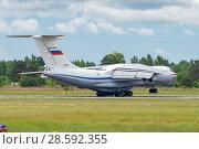 Купить «Ил-76МД (бортовой RF-78809) на посадке, аэродром Мигалово, Тверь», эксклюзивное фото № 28592355, снято 10 июня 2018 г. (c) Alexei Tavix / Фотобанк Лори