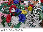 Купить «Цветы из бисера», эксклюзивное фото № 28599447, снято 19 июня 2018 г. (c) Илюхина Наталья / Фотобанк Лори