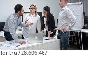 Купить «Businesspeople having argument in the office», фото № 28606467, снято 22 февраля 2019 г. (c) Vasily Alexandrovich Gronskiy / Фотобанк Лори