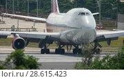 Купить «Airplane taxiing before departure», видеоролик № 28615423, снято 30 ноября 2016 г. (c) Игорь Жоров / Фотобанк Лори