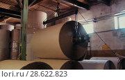 Купить «Recycling of garbage Cardboard paper production», видеоролик № 28622823, снято 14 июня 2018 г. (c) Aleksejs Bergmanis / Фотобанк Лори