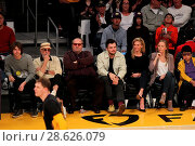 Купить «Celebrities at the Los Angeles Lakers game. The Golden State Warriors defeated the Los Angeles Lakers by the final score of 109-85 at the Staples Center...», фото № 28626079, снято 25 ноября 2016 г. (c) age Fotostock / Фотобанк Лори