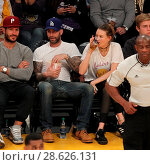 Купить «Celebrities at the Los Angeles Lakers game. The Golden State Warriors defeated the Los Angeles Lakers by the final score of 109-85 at the Staples Center...», фото № 28626131, снято 25 ноября 2016 г. (c) age Fotostock / Фотобанк Лори