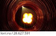 Купить «Abstract conceptual background with futuristic high tech wormhole tunnel», видеоролик № 28627591, снято 18 июня 2008 г. (c) Куликов Константин / Фотобанк Лори