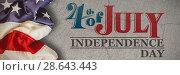 Купить «Composite image of creased us flag», фото № 28643443, снято 8 июля 2020 г. (c) Wavebreak Media / Фотобанк Лори
