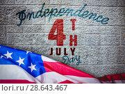 Купить «Composite image of us flag», фото № 28643467, снято 17 июля 2018 г. (c) Wavebreak Media / Фотобанк Лори