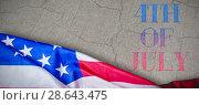 Купить «Composite image of us flag», фото № 28643475, снято 8 июля 2020 г. (c) Wavebreak Media / Фотобанк Лори