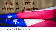 Купить «Composite image of creased us flag», фото № 28643567, снято 8 июля 2020 г. (c) Wavebreak Media / Фотобанк Лори