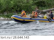 Купить «Сплав по горной реке», фото № 28644143, снято 15 июля 2016 г. (c) А. А. Пирагис / Фотобанк Лори