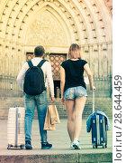 Купить «Couple going the historic city center», фото № 28644459, снято 25 мая 2017 г. (c) Яков Филимонов / Фотобанк Лори