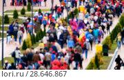 Купить «Football fans attend stadion Kaliningrad before match between Spain and Marocco», видеоролик № 28646867, снято 25 мая 2018 г. (c) Антон Гвоздиков / Фотобанк Лори