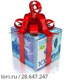 Купить «Казахстанские деньги в подарок», иллюстрация № 28647247 (c) WalDeMarus / Фотобанк Лори
