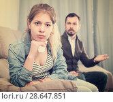 Купить «Father and daughter arguing», фото № 28647851, снято 4 марта 2017 г. (c) Яков Филимонов / Фотобанк Лори