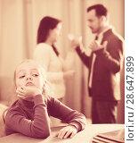 Купить «Parents arguing at home», фото № 28647899, снято 22 сентября 2018 г. (c) Яков Филимонов / Фотобанк Лори