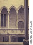Купить «Gothic architecture gallery dated 15th century», фото № 28648223, снято 23 апреля 2016 г. (c) Яков Филимонов / Фотобанк Лори