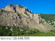 Купить «Гора Южная Демерджи. Крым», фото № 28648595, снято 14 июня 2018 г. (c) Natalya Sidorova / Фотобанк Лори