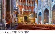 Купить «Cathedral Basilica of Saint Cecilia, Albi, France», видеоролик № 28662391, снято 29 марта 2018 г. (c) BestPhotoStudio / Фотобанк Лори
