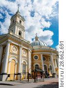 Купить «Церковь святого Пророка Илии на Пороховых. Санкт-Петербург», эксклюзивное фото № 28662691, снято 9 июня 2018 г. (c) Александр Щепин / Фотобанк Лори