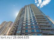 Купить «Modern building exterior», фото № 28664635, снято 18 июля 2018 г. (c) Ольга Сапегина / Фотобанк Лори
