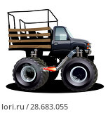Купить «Cartoon Monster Truck», иллюстрация № 28683055 (c) Александр Володин / Фотобанк Лори