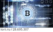 Купить «Bitcoin technology information interface», фото № 28695307, снято 29 февраля 2020 г. (c) Wavebreak Media / Фотобанк Лори