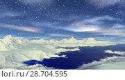 Купить «Чужая планета. Скалы и озеро. Анимация. Панорама. 4К», видеоролик № 28704595, снято 8 июля 2018 г. (c) Parmenov Pavel / Фотобанк Лори