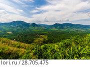 Купить «Живописный вид с горы на поля, джунгли и и долину Краби, Таиланд», фото № 28705475, снято 17 февраля 2013 г. (c) Игорь Рожков / Фотобанк Лори