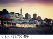 Купить «Catalan town at mediterranean coast in morning. Montgat», фото № 28706499, снято 2 июня 2014 г. (c) Яков Филимонов / Фотобанк Лори