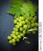 Купить «green grape on black background», фото № 28723303, снято 10 июня 2017 г. (c) Майя Крученкова / Фотобанк Лори